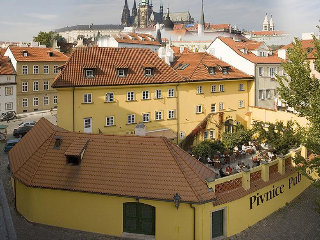 Archibald at the Charles Bridge Hotel in Prague, Czech Republic