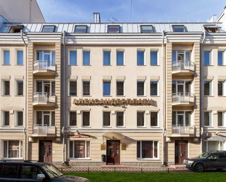 AlexanderPlatz in St Petersburg, Russia