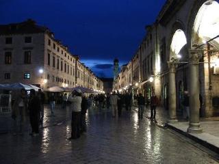 Dubrovnik Historic Street Old Town in Dubrovnik, Croatia