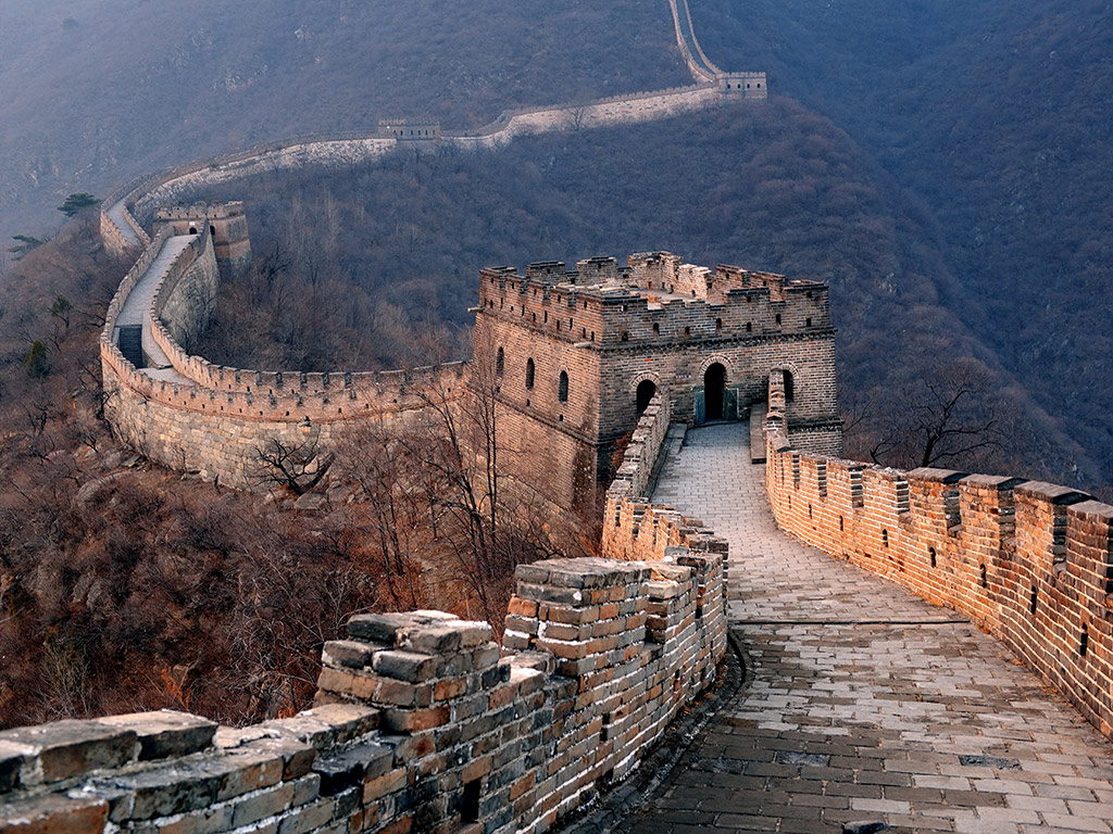 """Resultado de imagem para Badaling"""" da Grande Muralha."""