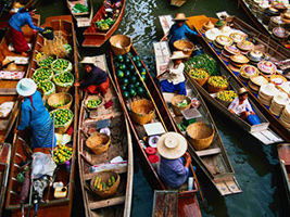 Full Day Floating Market and Sampran Riverside