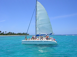 Saona Island by Catamarán & Speed Boat & Natural Swimming Pool from Juan Dolio