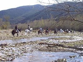 Horse riding at El Pesebre, Jaca