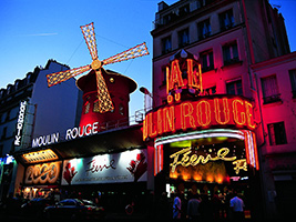 Eiffel Tower dinner, cruise and Moulin Rouge with transfer