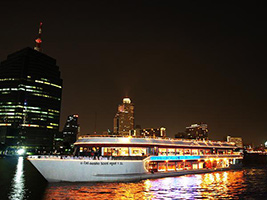 Evening dinner cruise with white orchid cruise