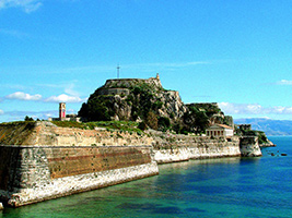 Corfu Town by Boat