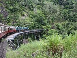 Full Day Kuranda, Scenic Rail, Skyrail And Tjapukai - KQST