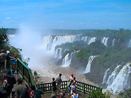 Iguazu Falls with river cruise