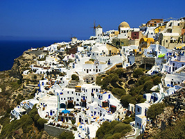 Tour to Oia and Fira town with visit to museum