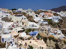 Santorini island tour with wine tasting – private