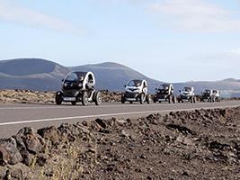 Timanfaya electric car tour