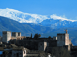 Granada city center by train
