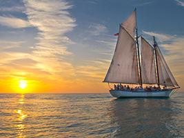 Romantic Sunset Schooner Sail