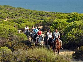 HORSE RIDING TROUGH THE DUNES AND BEACH OF DOÑANA