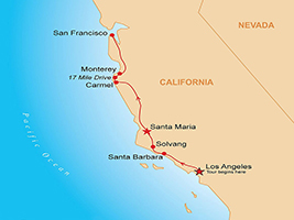 Three Days California Coast with San Francisco