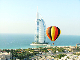 Hot-air balloon ride over Dubai