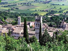 Excursion to Assisi, Cortona and Perugia