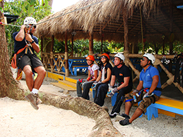 Rainforest canopy adventure from Punta Cana