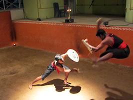 Kalaripayattu traditional martial art performance - private