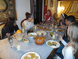 Egyptian home cooked meal