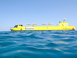 Sea scope glass boat