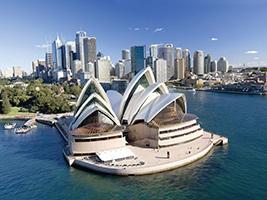 City, Harbour & Bondi Beach with Sydney Opera House