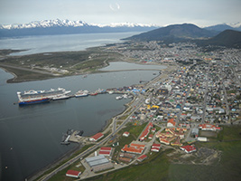 Flight over Ushuaia City by Helicopter