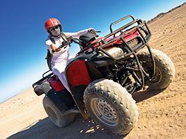 Quad biking in the Egyptian Desert