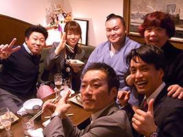 Enjoy Chanko Hot pot dinner with Sumo Wrestler in Asakusa Chanko-ba Restaurant